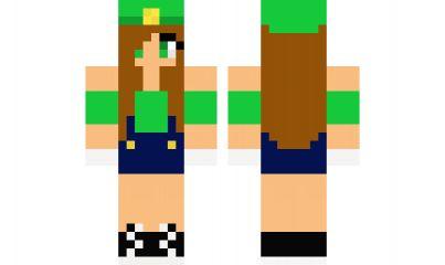 Minecraft skin luigi girl girl minecraft skins pinterest