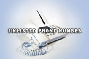 Unlisted reverse phone numbers