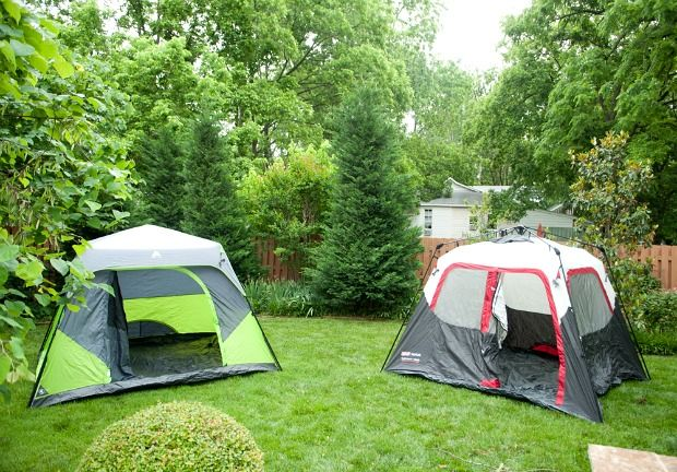Tent Camping In Backyard : Backyards