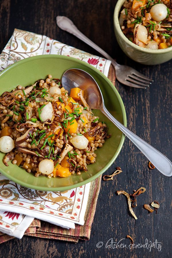 Three-Onion Whole Wheat Israeli Couscous with Butternut Squash and ...