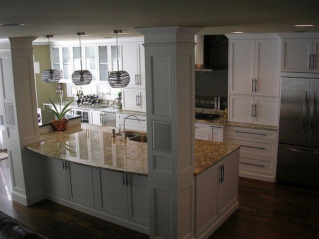 kitchen island with columns home