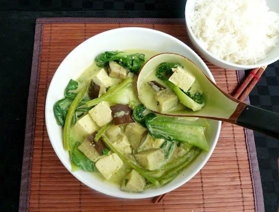 Thai Green Curry With Tofu And Eggplant | Recipes-Veggies | Pinterest