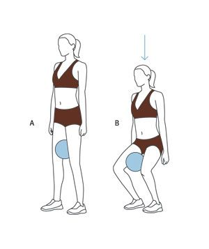 Trim Your Inner Thighs With Easy Exercises  Move 3: Squat With Ball