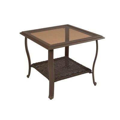 Cedar Island All Weather Wicker Patio Side Table