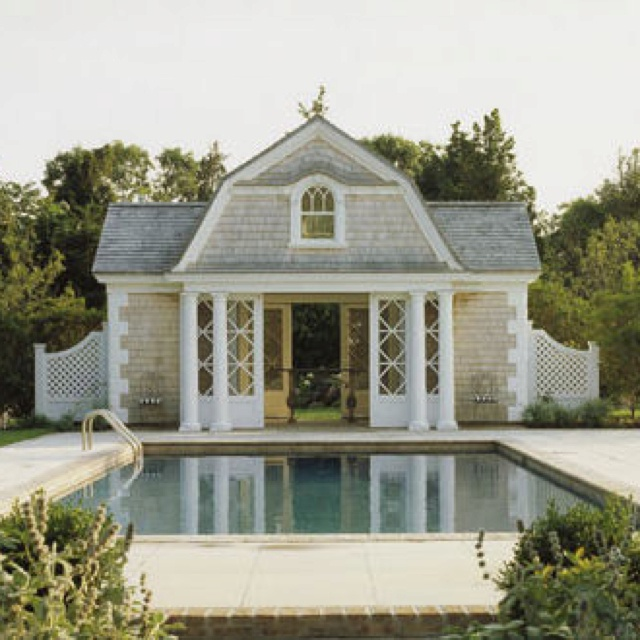 Dreamy Pool House Houzz Com For The Home Pinterest