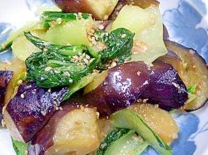 "Stir-fried eggplant & bok-choy with Miso"" - japanese recipe/ナス ..."