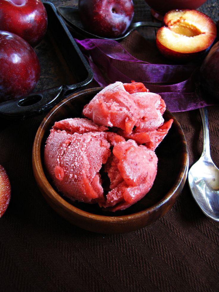 plum sorbet - perfect with ripe summer plums! #dessert