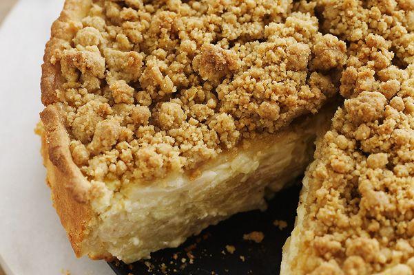 Deep-Dish Sour Cream Apple Pie with Lemon-Cardamom Streusel - Recipe ...