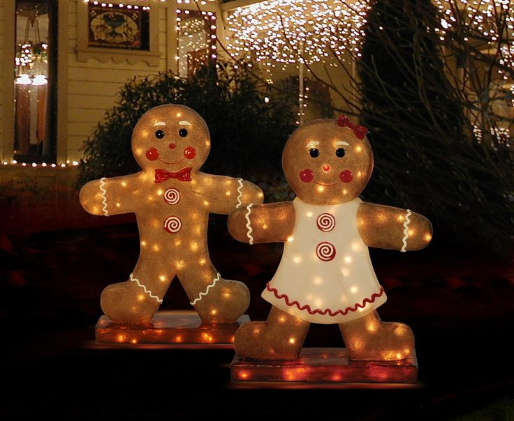 Outdoor gingerbread christmas decorations photograph ginge - Decorations for gingerbread man ...