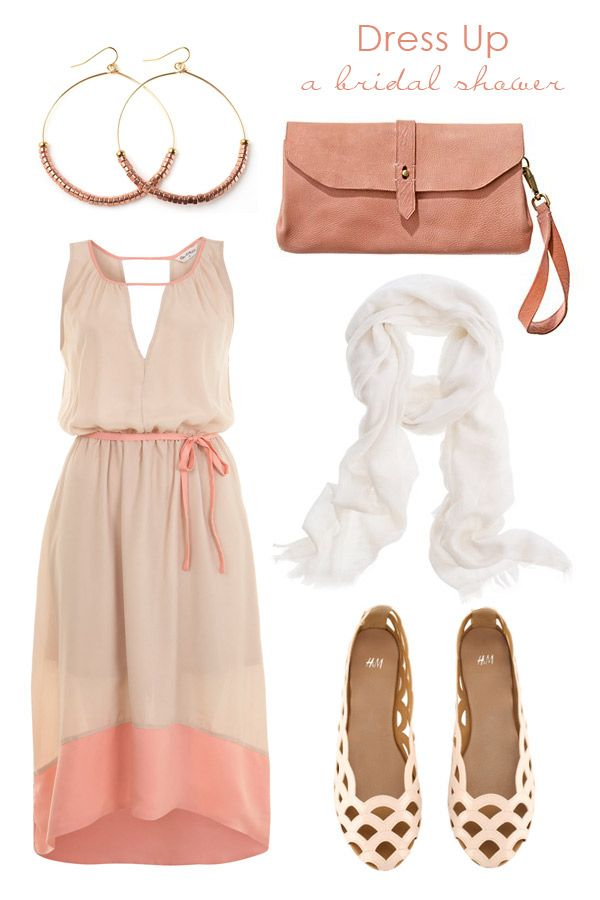 A pretty dress gorgeous cut out flats and just a touch of for Dress for wedding shower