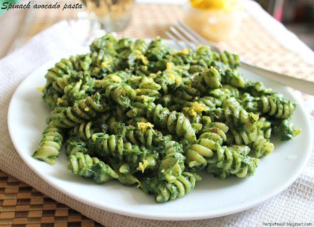 Spinach avacado pasta!