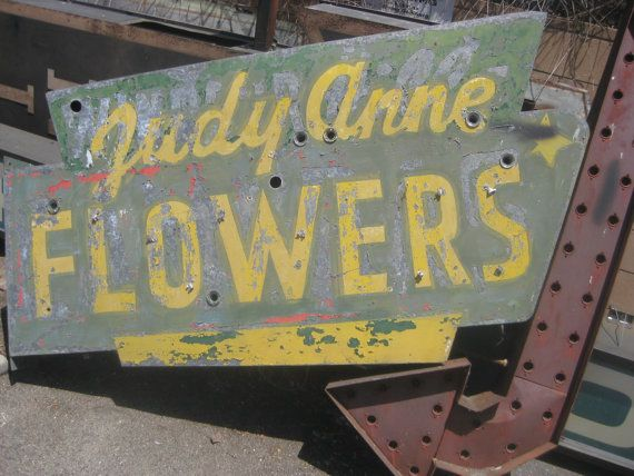 Vintage 1940's Neon JUDY ANNE FLOWERS sign