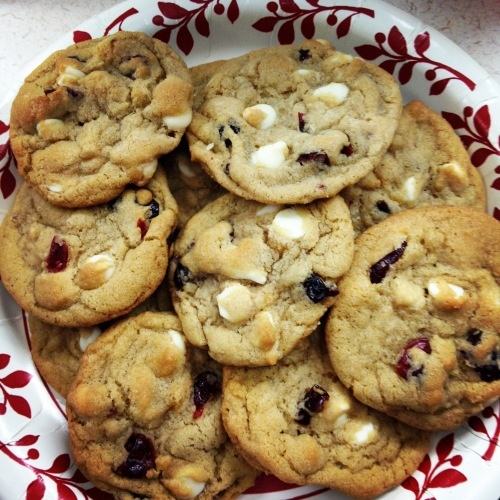 white chocolate chip cranberry cookies | food food food | Pinterest