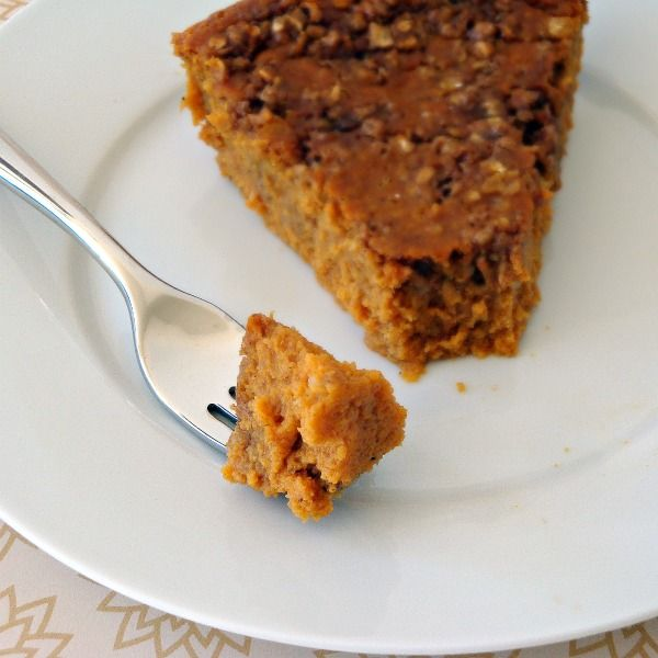 Healthy Skinny Pumpkin Pie -- without crust, but with a brown sugar ...