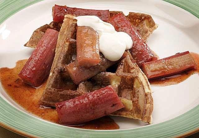 LA Times - Recipe: Sour cream waffles | bites & libations | Pinterest
