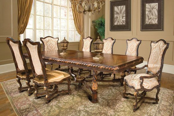 solid wood richly carved dining room set formal dining
