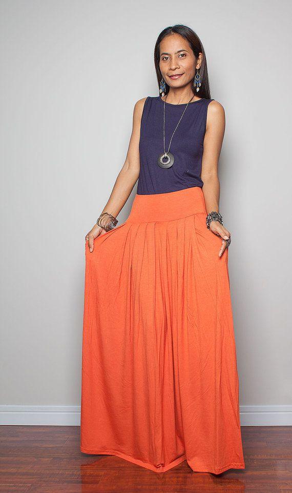 maxi skirt orange skirt autumn thrills collection