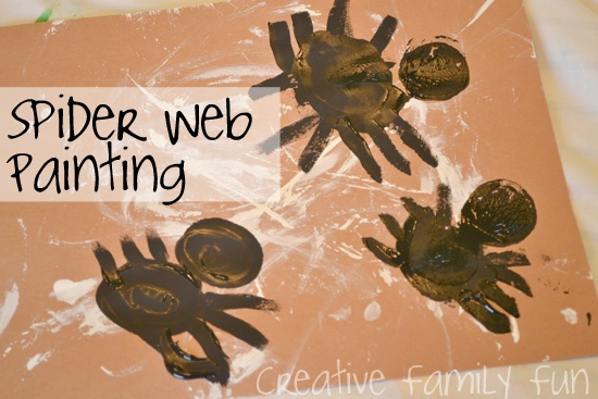 Get Crafty: Spider Web Painting ~ Creative Family Fun