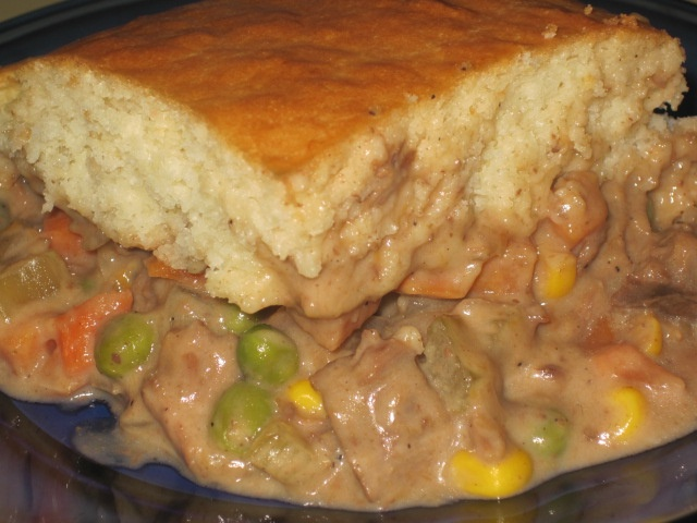 Beef Biscuit Pie - This is a great recipe for left over roast or steak ...