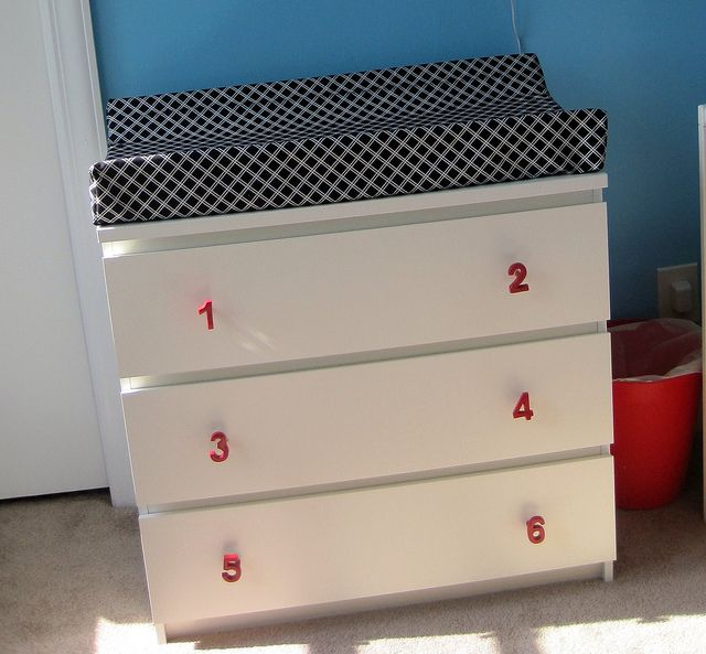 Malm 3 drawer dresser for changing table nursery ideas - Mobile malm ikea ...