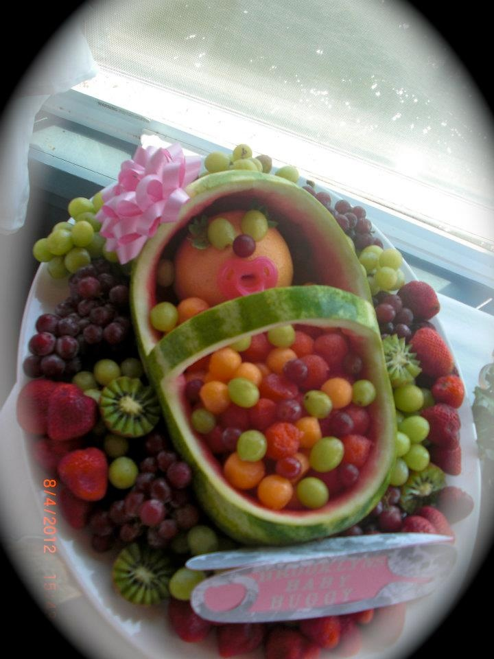 baby shower fruit platter ideas pictures to pin on pinterest