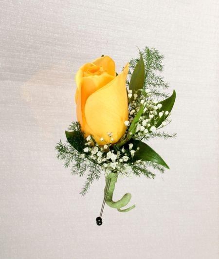 Stadium Flower Single Rose Boutonniere 50th Wedding Anniversary