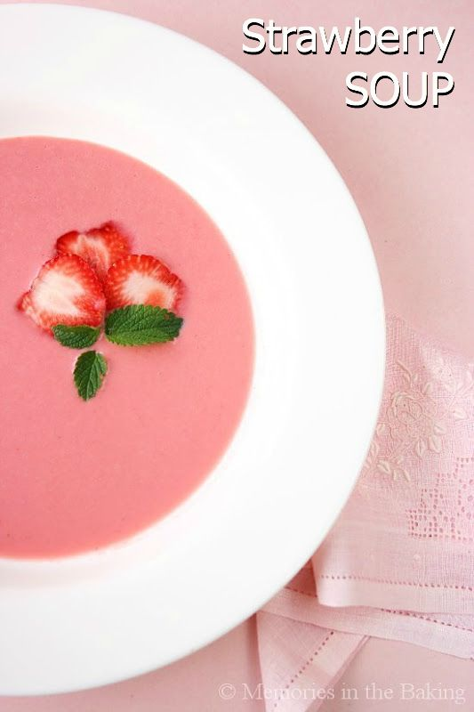 Strawberry Soup I Recipe — Dishmaps