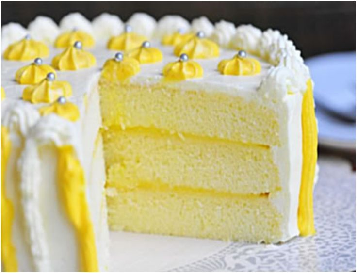 Triple Lemon Chiffon Cake | Awesome Deserts | Pinterest