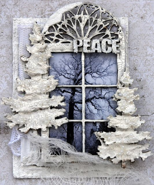 Life's little Embellishments: Peace ****Dusty Attic ATC Challenge Dec****