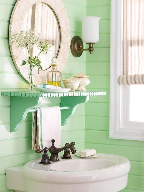 Seafoam green bathroom ideas for the home pinterest for Green painted bathroom ideas