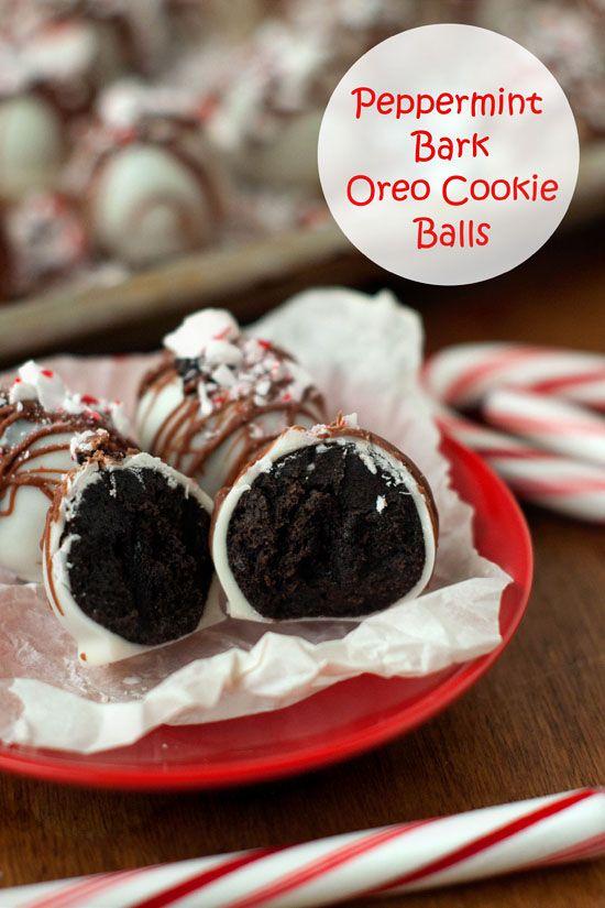 Peppermint Bark Oreo Cookie Balls | heatherlikesfood.com # ...