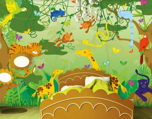 Kinderzimmer Tapete Dschungel : Kids Jungle Wall Mural Art