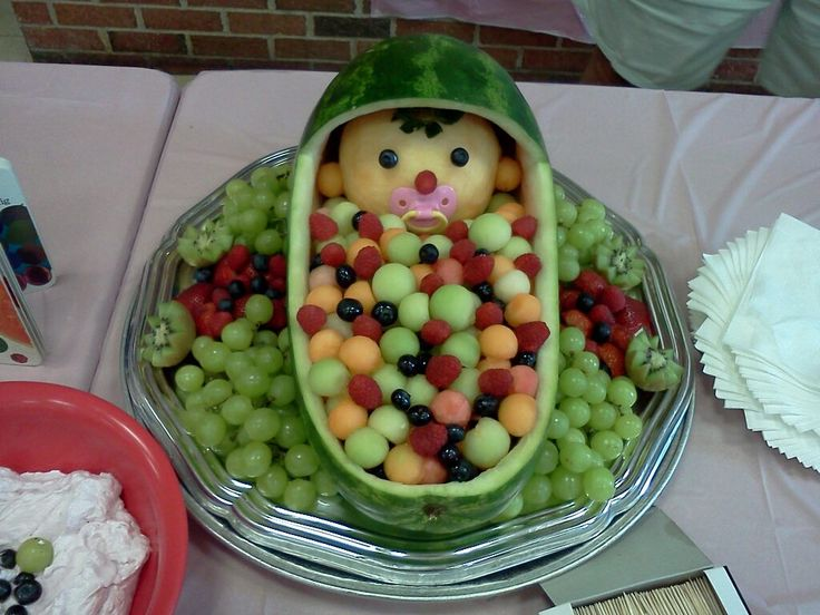 baby bassinet fruit bowl baby shower gift ideas pinterest