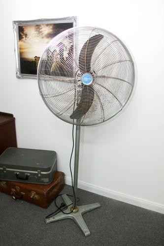 Vintage Pedestal Fan : Industrial vintage style pedestal fan fans and