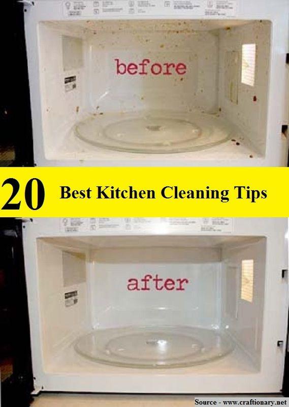 20 Best Kitchen Cleaning Tips Green Homekeeping Pinterest