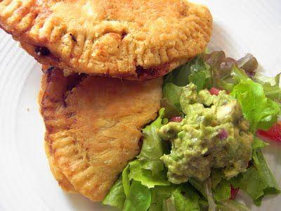 Vegan Thyme: Vegan Empanadas with Smokey Chipotle Peppers (While Knitting A Summer Cardigan)