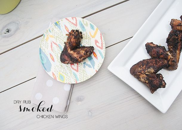 smoked chicken wings (hickory chips soaked in bourbon)