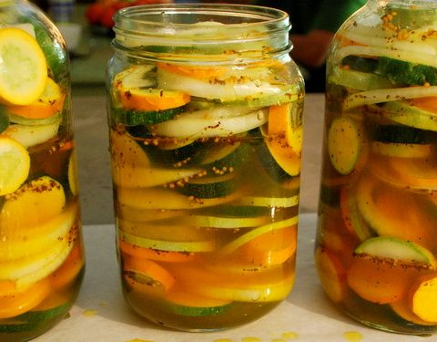 refrigerator Zucchini pickles. I am intrigued. Not much of a zucchini ...