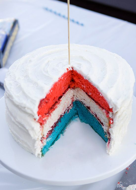 Red, White and Blue Cake | Foodie Life | Pinterest