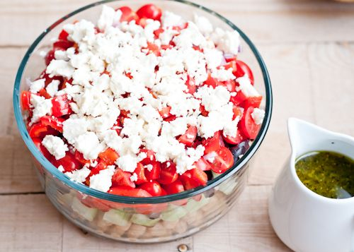 Cafe Johnsonia: Layered Greek-Style Chickpea Salad Recipe with Oregano ...
