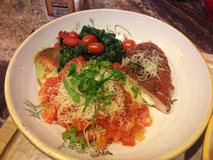 , fresh marinara sauce, prosciutto wrapped mozzarella stuffed chicken ...