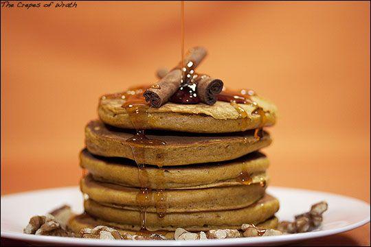 pumpkin pie pancakes, yum | food | Pinterest