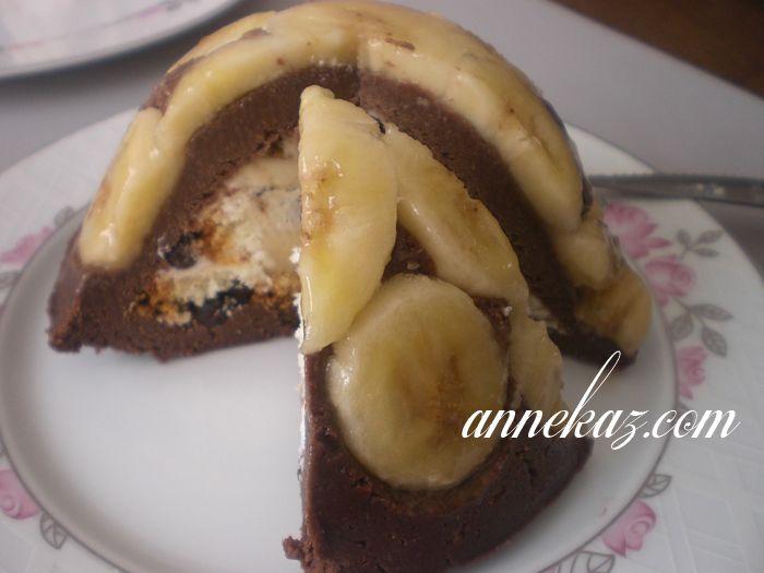 Pratik muzlu ters düz pasta – Pişmeyen pasta -