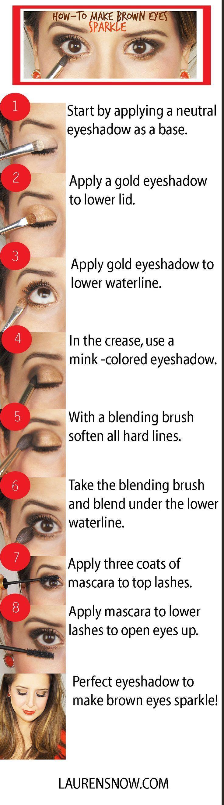 Eye makeup for brown eyes tutorial