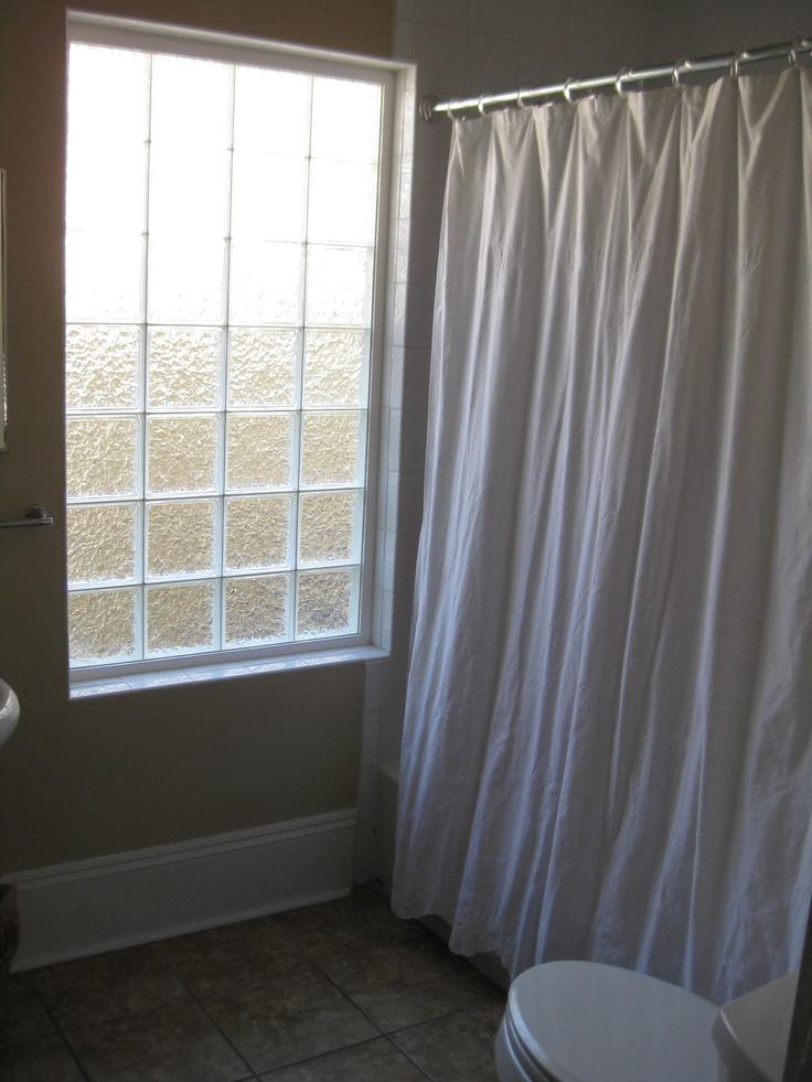 Glass block bathroom window house pinterest for Acrylic block window