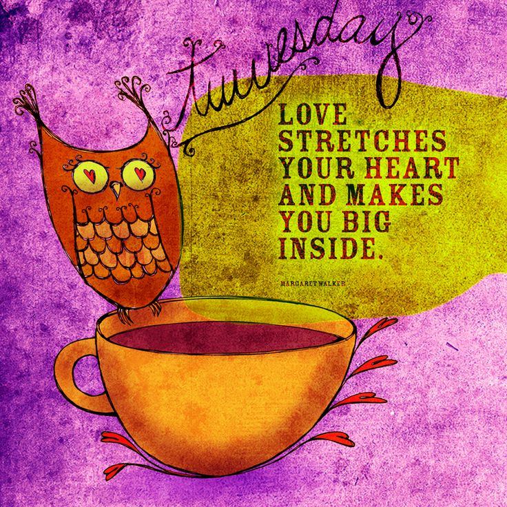 Love stretches your heart. What my coffee says to me