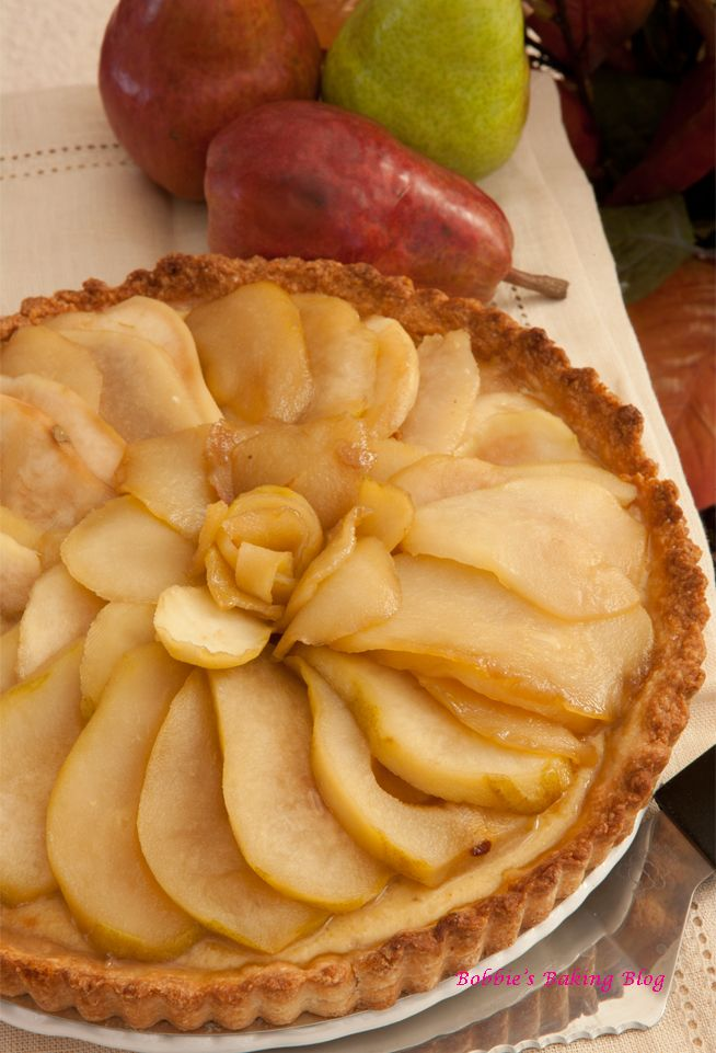 Caramelized Almond-Pear Tart | Recipes I'd like to try | Pinterest