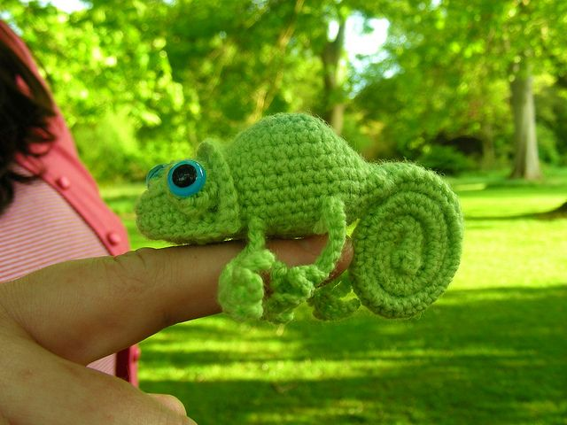 Cute Chameleon pattern by Brigitte Read