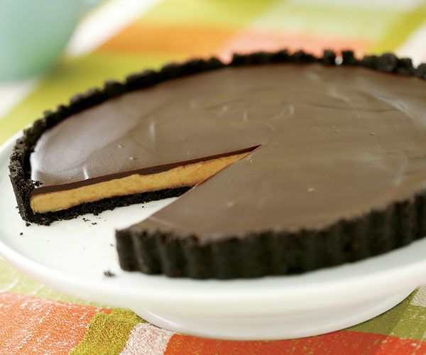 Chocolate-Glazed Peanut Butter Tart | Recipe