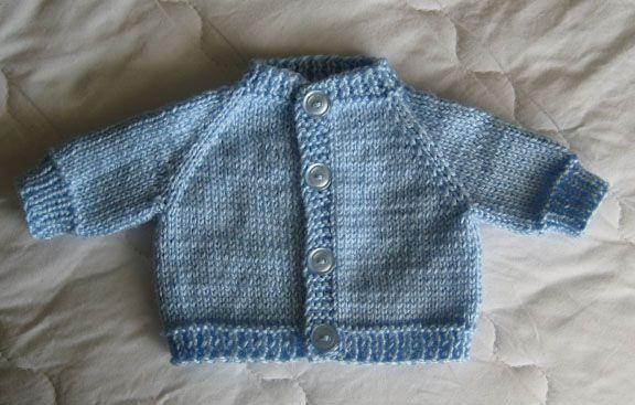 Knitting Pattern Premature Baby Blanket : Knit Preemie Cardigan Sweater Knitting for premature babies Pinte?